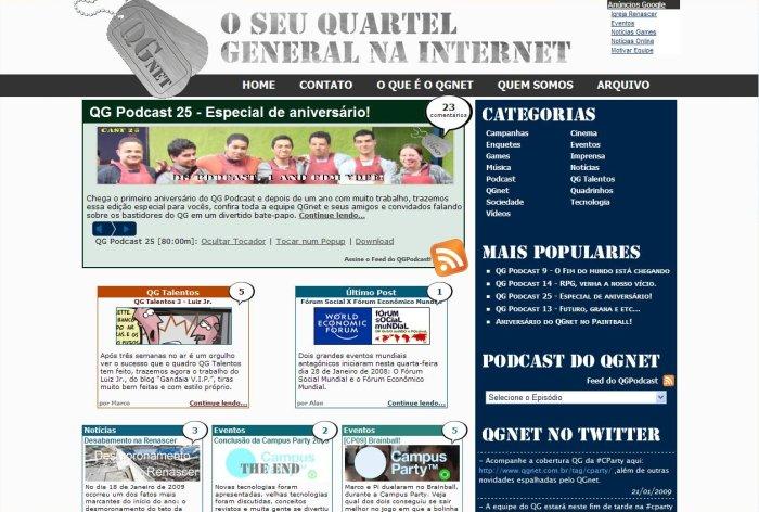 Visual do QG em 2009