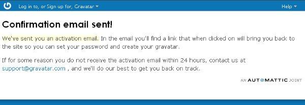 Confirmação do e-mail