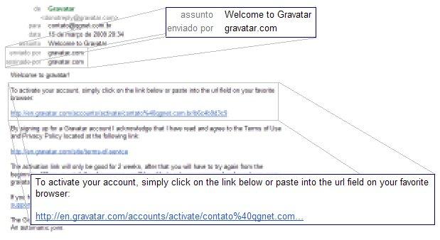 Confirmando o e-mail