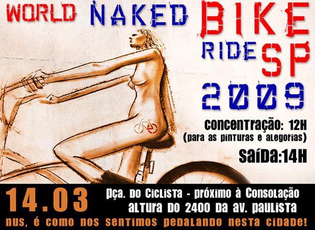 World Naked Bike Ride São Paulo 2009