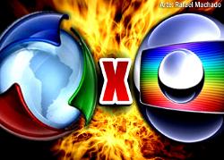 Globo vs Record (imagem por Rafael Machado