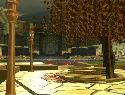 Praça 3D tirada de vídeo