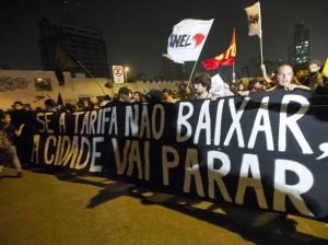 Protesto ocorrido em São Paulo, em 07/06/2013