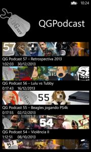 Aplicativo QG Podcast